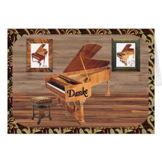 Danke mit Klavier Card