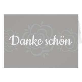 Danke Schön / German Thank You Card