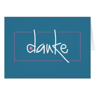 Danke Thank you in any language Note Card