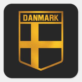 Danmark Emblem Square Sticker