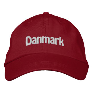 Danmark Embroidered Hats