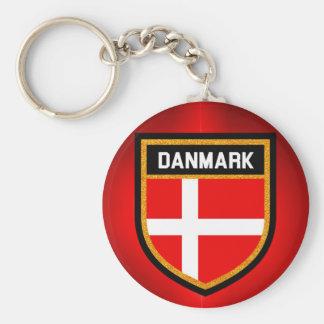 Danmark Flag Keychain