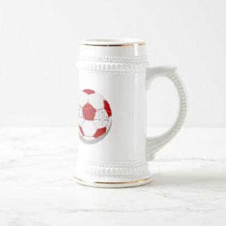 Danmark texture ball Dansk fodbold clothing Beer Stein