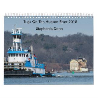 """Dann Ocean Towing Tug---""""STEPHANIE DANN"""" Wall Calendars"""