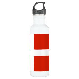 Dannebrog; The Official Flag of Denmark 710 Ml Water Bottle