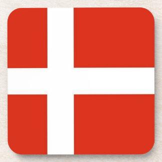 Dannebrog; The Official Flag of Denmark Coasters