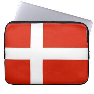 Dannebrog; The Official Flag of Denmark Computer Sleeve