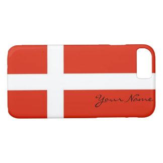 Dannebrog; The Official Flag of Denmark iPhone 7 Case