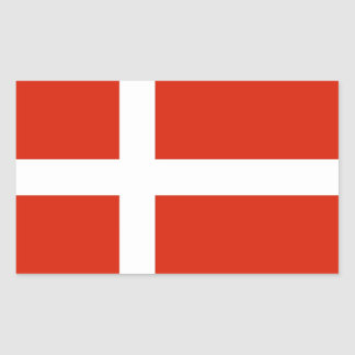 Dannebrog; The Official Flag of Denmark Sticker