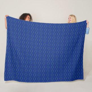 Danny Blue Diamond Satin Pattern Fleece Blanket