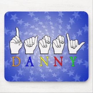 DANNY FINGERSPELLED ASL NAME SIGN MOUSE PAD