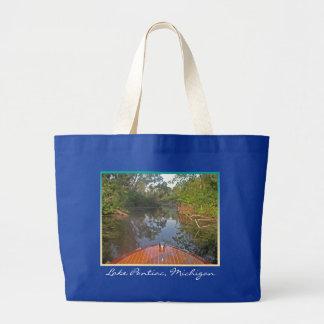 Dan's Boat tote Jumbo Tote Bag