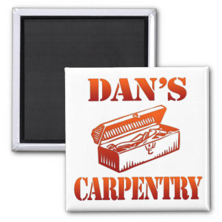 Dan's Carpentry Square Magnet
