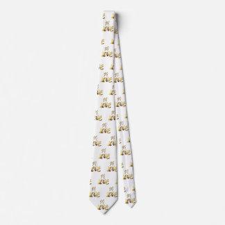 Dans élégant romantique de typographie d'or de cravate