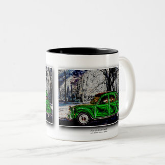 DANS LA FORÊT - digital Artwork Jean Louis Glineur Two-Tone Coffee Mug