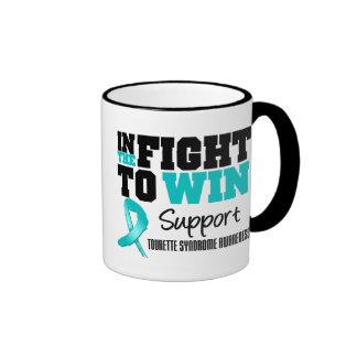 Dans le combat pour gagner le syndrome de Tourette Tasse