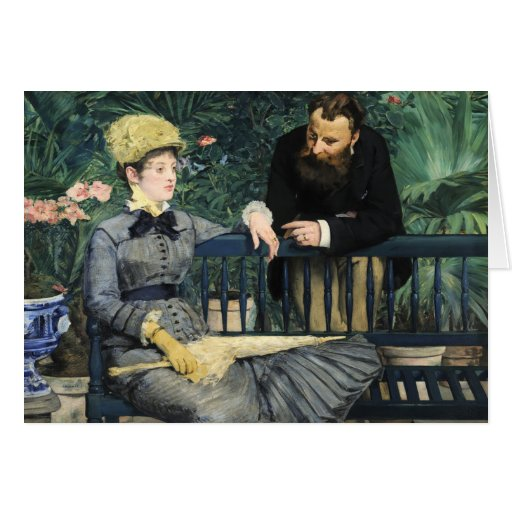 Dans le conservatoire douard manet carte de v ux zazzle for Devant le miroir manet