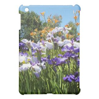 Dans le coque ipad de jardin d'iris