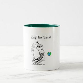 Dans le monde entier mug bicolore