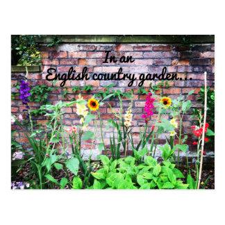 Dans le pays de l'anglais un jardin fleurit la cartes postales