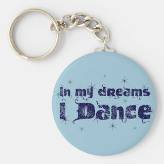 Dans mes rêves, je danse porte-clé rond