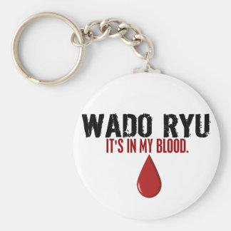 Dans mon sang WADO RYU Porte-clé Rond