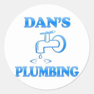 Dan's Plumbing Classic Round Sticker