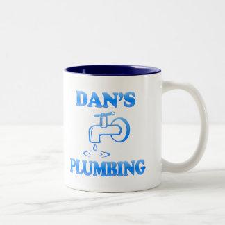 Dan's Plumbing Two-Tone Coffee Mug