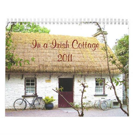 Dans un calendrier irlandais du cottage 2011