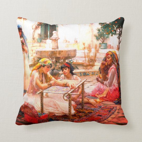 Dans une ville de campagne Alger (1888) Throw Pillow