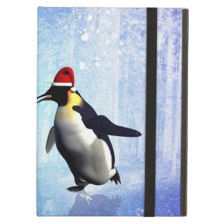 Dansant pour Noël, penguine drôle