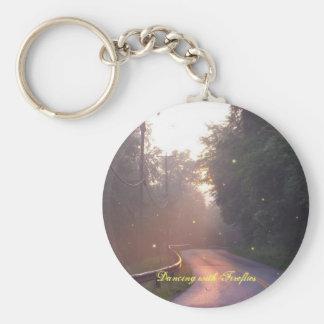 Danse avec le porte - clé de lucioles porte-clé rond