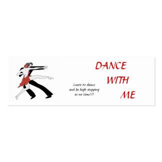 Danse avec moi cartes de visite professionnelles