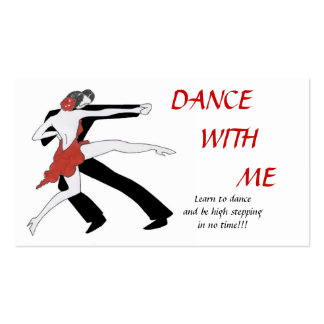 Danse avec moi modèles de cartes de visite