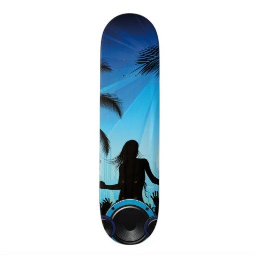 danse c de musique de plage de partie de la plage skateboards personnalisés