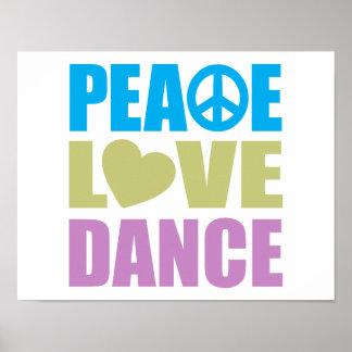 Danse d amour de paix affiches