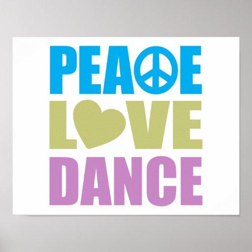 Danse d'amour de paix affiches