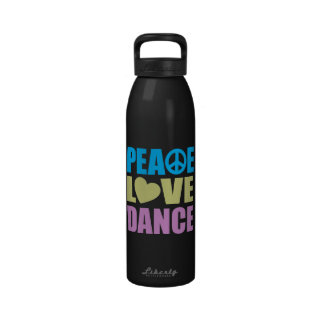 Danse d'amour de paix bouteille d'eau