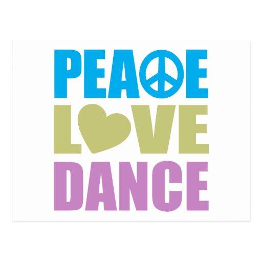 Danse d'amour de paix carte postale
