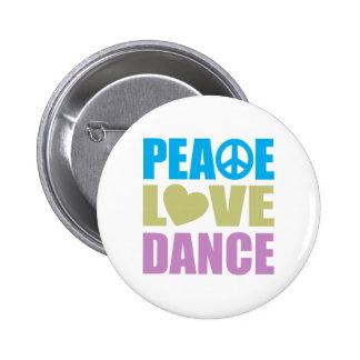 Danse d'amour de paix macaron rond 5 cm