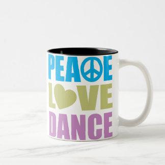 Danse d'amour de paix tasse