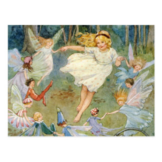 Danse dans l'anneau féerique carte postale