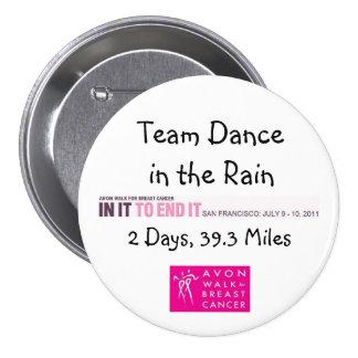 Danse de 2011 équipes dans le bouton de pluie macaron rond 7,6 cm