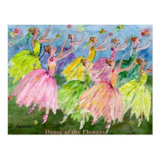 Danse de casse-noix des fleurs cartes postales