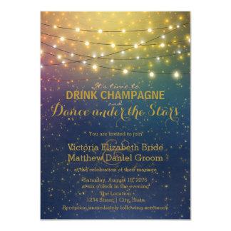 Danse de Champagne de boissons sous épouser Carton D'invitation 11,43 Cm X 15,87 Cm