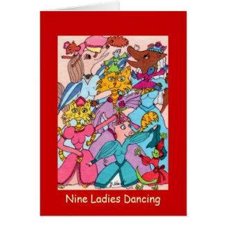 Danse de neuf dames carte de vœux