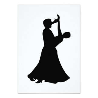 Danse de salon carton d'invitation 8,89 cm x 12,70 cm