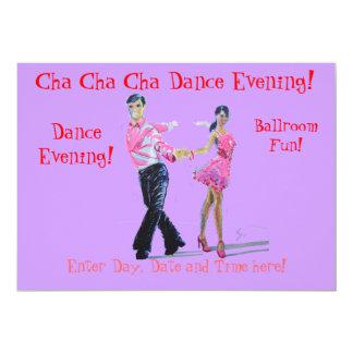 Danse de salon de Cha Cha Cha Carton D'invitation 12,7 Cm X 17,78 Cm