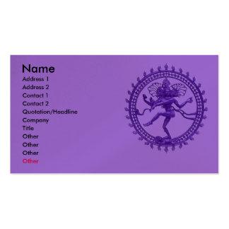 Danse de Shiva Carte De Visite Standard