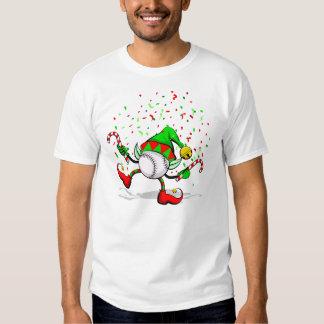Danse d'Elf de base-ball de Noël T-shirt
